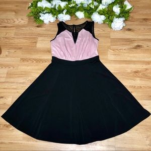 Enfocus Studio Black and Pink Dress